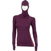 Aclima W's WarmWool Hood Sweater Grape Wine/Damson